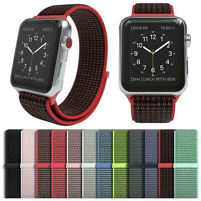 Für Apple Watch Armband Nylon Uhrenarmband Sport Loop Series 1 / 2 / 3 / 4