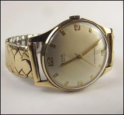 Vintage Gents 9Ct Gold Avia Wristwatch