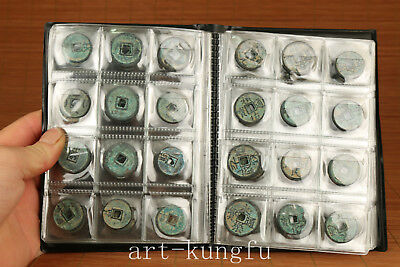 120 piece Chinese Old Bronze Hand Carved Ming dynasty Coins Statue gift Collect