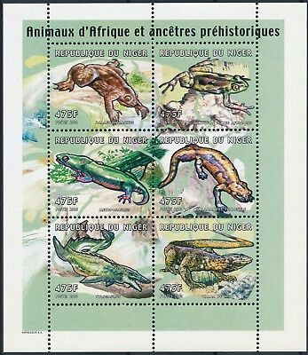 [H15075] Niger 2000 Wild animals - Prehistoric fauna Good sheet very fine MNH