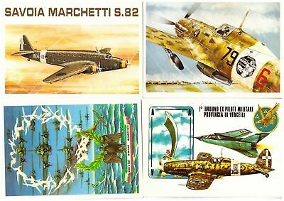 s27270) N.4 Cartoline Brovarone - Aviazione Aerei Aircrafts Avion Flugzeug