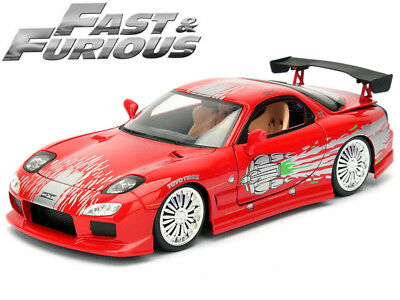 Fast & Furious - Dom's Mazda RX-7 1:24 Scale Diecast Model