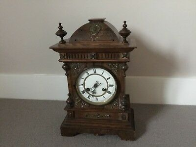 Antique Oak Mantel Clock