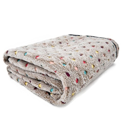 PAWZ Road Pet Dog Blanket Fluffy Fleece Fabric Soft and Cute Warm Dot Print for