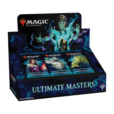 MTG Magic the Gathering Ultimate Masters Booster Box + Box Topper Sealed