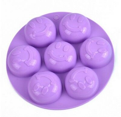 New 3D Cake Soap Mold Smile Face Flexible Silicone Mould For Candy Chocolate