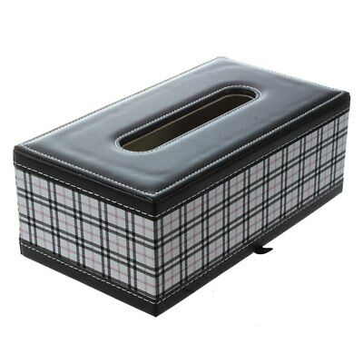 3X(Case grain PU leather tissue box O7X9)
