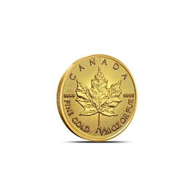 2019 1/20 Oz Canada Gold Maple Leaf Coin .9999 Fine BU Sealed in Plastic