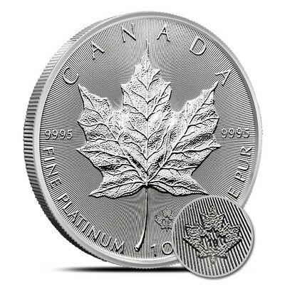 2019 1 Oz $50 Platinum Canadian Maple Leaf Coin .9995 - Gem Uncirculated (BU)