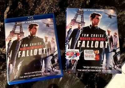 Mission Impossible Fallout  2018  Blu-ray + Digital HD ONLY NO DVD included!!