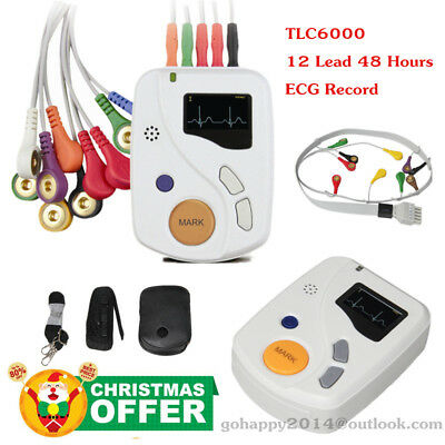 CONTEC TLC6000 Dynamic ECG Systems 12-lead 48-hour record ECG holter PC software