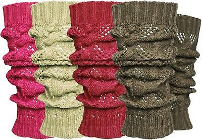 12 Pieces Lot Solid Winter Cable Knit Leg Warmers