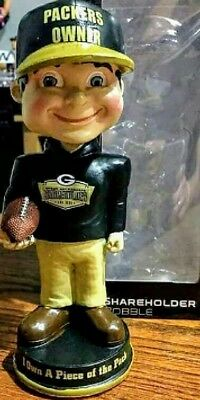 Green Bay Packers Exclusive Shareholder Bobblehead and FS Football.