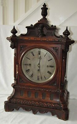 Large & Impressive 8 Bell Triple Fusee Bracket Clock In Delightful Oak Case
