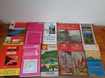 Job Lot of 12 vintage touring and OS maps