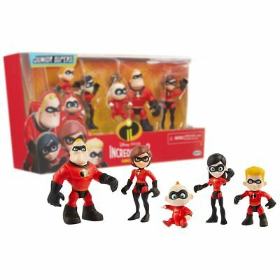 New Incredibles 2 Junior Supers Family Pack 5 Action Figures Official