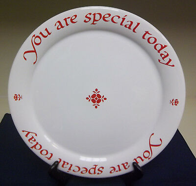 """Waechtersbach Spain You Are Special Today White Red Large 12"""" Cake Plate Vintage"""