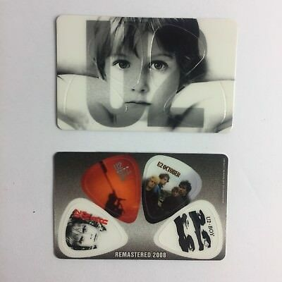 U2 Set 4 guitar picks wallet card Collection Rare Limited Edition Bono