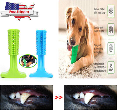 Dog Toothbrush Pet Brushing Stick Chew Toy Teeth Cleaning For Dogs Pets Oralcare