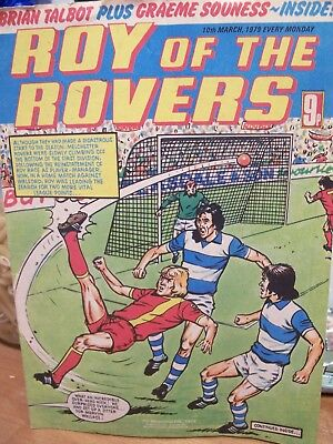 ROY OF THE ROVERS COMIC March 10th 1979.Roy Race.