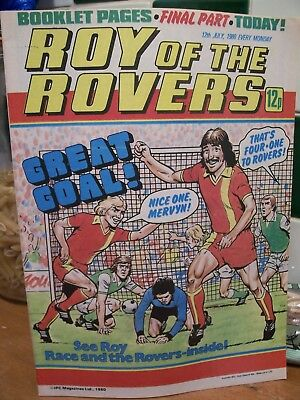 ROY OF THE ROVERS COMIC July 12th, 1980.Roy Race.