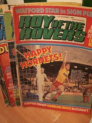 Job Lot of 10 X ROY OF THE ROVERS COMICs From 1982..Roy Race.See comic dates.