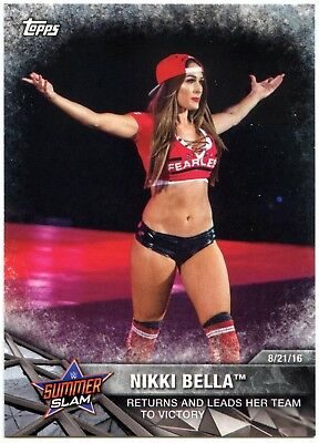 Nikki Bella #WWE-3 WWE Womens Division WWE Matches & Movements Topps Card C2260