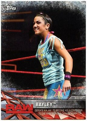 Bayley #WWE-19 WWE Womens Division WWE Matches & Movements 2017 Topps Card C2260 Verzamelingen