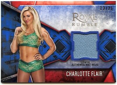 Charlotte Flair #MR-CF WWE Womens Division Mat Relic Blue Parallel Card (C2266)
