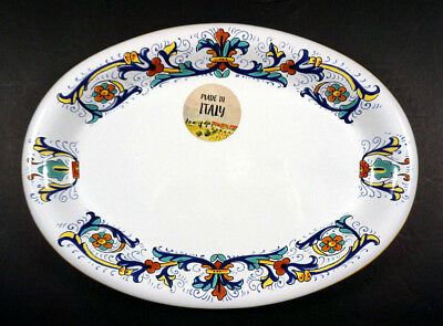 "NWT Nova Deruta Oval Plate Dish 10.75"" x 7"" ~MADE & HAND PAINTED in ITALY"