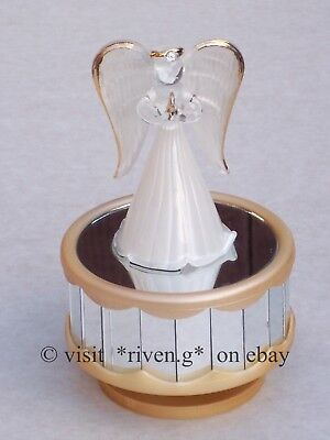 ANGEL MUSIC Box@Angelic GIFT@AMAZING GRACE@GLASS@PRAY BLESSING Keepsake@CRYSTAL