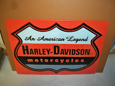 Harley Davidson Rectangle Metal Sign - New - American Legend Tin
