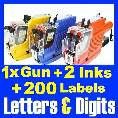 Alphanumeric Price Pricing Gun Labeller 2 Line 10 Letters + 10 Numbers Tag Gun