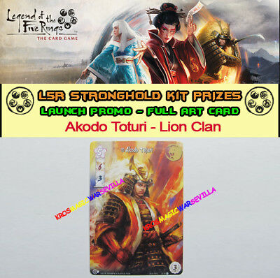 LEGEND OF THE FIVE RINGS LCG - Akodo Toturi Lion Clan - Promo Stronghold Kit