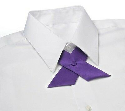 Dark Purple Satin Crossover Tie