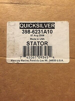 Quicksilver Stator Assembly Part Number 398-6231A10 Mercury