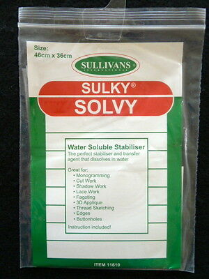 Sulky Solvy -  Water Soluble Stabiliser 46cm x 36cm
