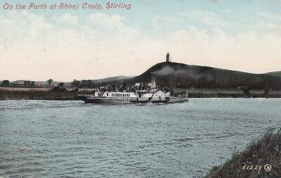 "Steamer ""Edinburgh Castle"" RIVER FORTH STIRLING Bridge of Allan 1909 ALLOA."