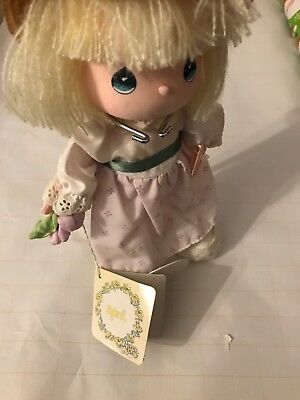precious moments doll of the month April new with stand rare by applause collect