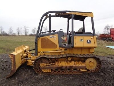 2005 John Deere 650J LT Crawler/Dozer, OROPS w/ Sweeps, 6-Way- 1,812 Hours