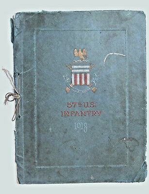"WWI 1918 57th U.S. Infantry ""Always Forward"" History Photographic Record Book"