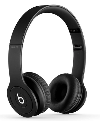 Brand New genuine Beats by Dr. Dre Solo HD headphones wired matte Black, sealed