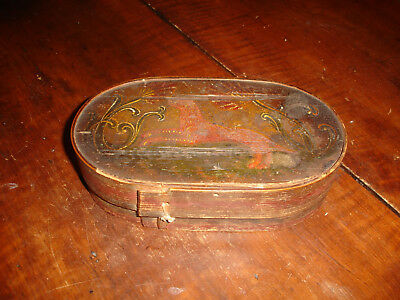 An Outstanding American Miniature Paint Decorated Brides Box, Filled With Memori