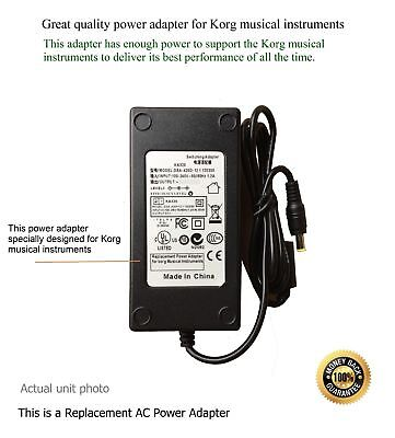 AC Adapter - Power Supply for Korg Krome 88-Key Synthesizer Workstation