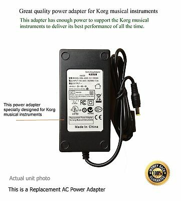 AC Adapter - Power Supply for KORG M50 73-Key Music Workstation