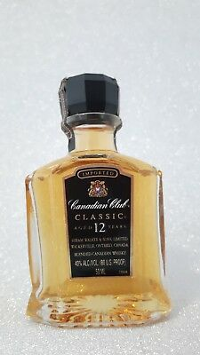 WHISKY  CANADIAN CLUB IMPORT TAIWAN 12 years 5cl GLASS MINIATURE