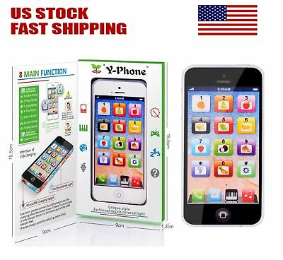 YPhone Mobile Phone Educational Toy Gift For Baby Kids Boys Children Black&White