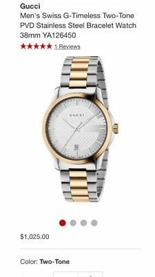 2c8818dc8 GUCCI MEN'S SILVER G-timeless Stainless Steel Watch (New) - $295.00 ...