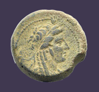 Archaios | Seleukid Empire Antiochos IV Epiphanes Bust of Isis Eagle Thunde AE27