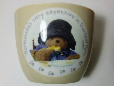 "Spode 2011 Paddington Bear Oval 4"" Tall Ceramic Coin Bank Child's Money Box EUC"